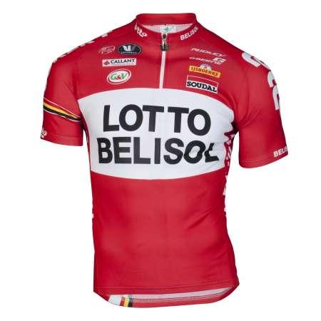 picture Lotto-Belisol Fietsshirt Korte Mouwen 2014
