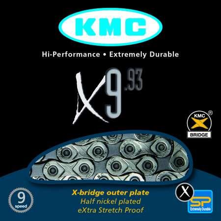 picture X9-93 9-Speed Zilver/Grijs Ketting