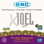 KMC X10EL 10 speed Extra Light TI-N Ketting Goud