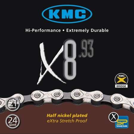 picture X8-93 8-Speed Ketting Zilver/Grijs