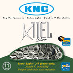 KMC X11EL 11 speed Extra Light Ketting Zilver