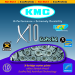 KMC X10 EPT EcoProteQ Ketting Zilver 10 Speed