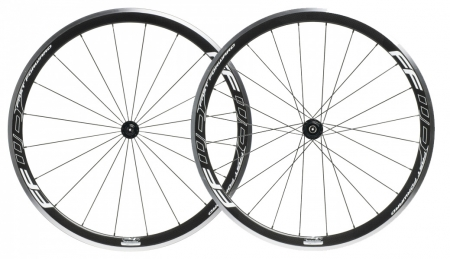 picture F4R Carbon Clincher White Logo Design Wielset met Fast Forward Ceramic