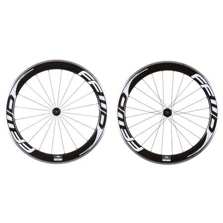 picture F6R Carbon Clincher White Logo Design Wielset met DT Swiss 240s Naaf