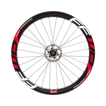 picture F4D Full Carbon Tubular Disc Brake Wielset Rood/Wit met DT Swiss 240S
