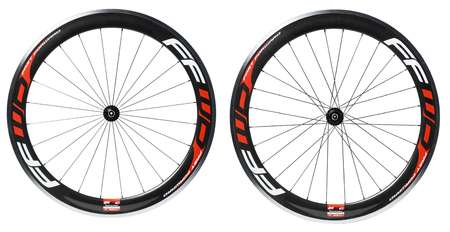 Fast Forward F6C Carbon Alloy Clincher Wielset met DT Swiss 350 Naaf Rood