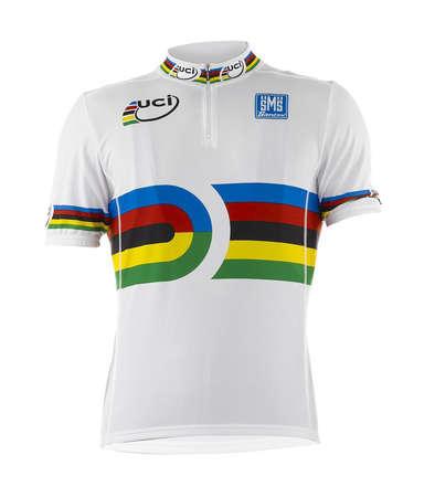 picture UCI Track Fietsshirt Korte Mouwen Wit 2015