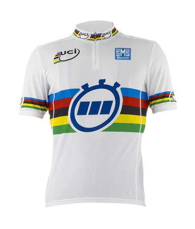 picture UCI WC TT Fietsshirt Korte Mouwen Wit 2015