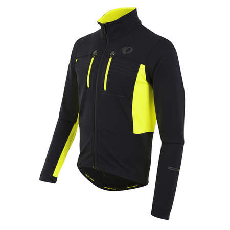 picture Elite Escape Softshell Fietsjack Zwart/Geel Heren