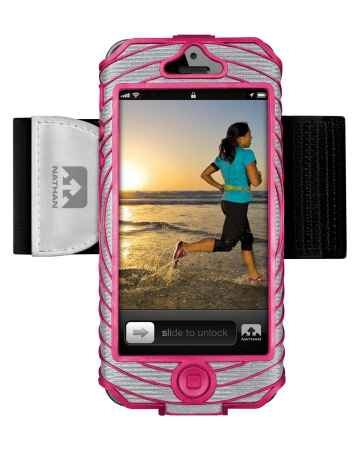 picture Sonic Boom I-phone 5 Houder Zilver/Roze