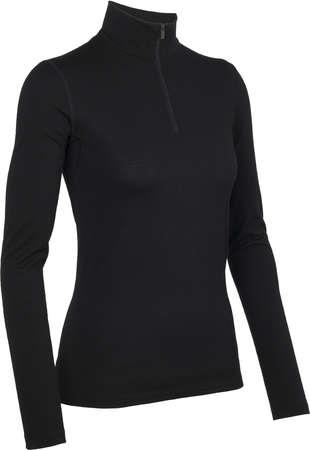 picture Oasis Half Zip Shirt Lange Mouwen Zwart Dames