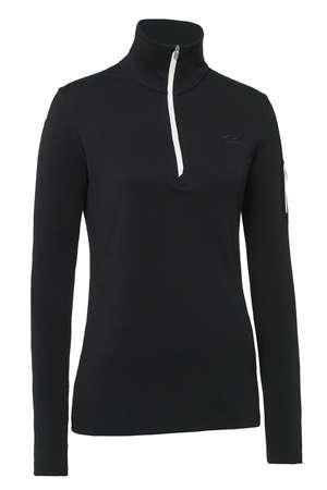picture Vertex Half Zip Shirt Lange Mouwen Zwart Dames