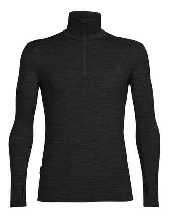 picture Bodyfit 260 Tech Top Half Zip Ondershirt Lange Mouwen Zwart Heren