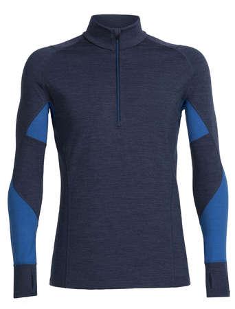 picture Bodyfit 260 Winter Zone Half Zip Ondershirt Lange Mouwen Blauw Heren