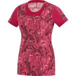 Running Wear Air Print Shirt Korte Mouwen Roze Dames