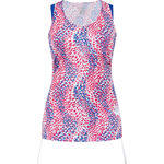 Running Wear Sunlight  Print Singlet Blauw Dames