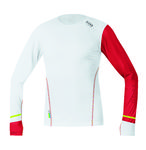 Running Wear X-Run Ultra Hardloopshirt Lange Mouwen Wit/Rood Heren