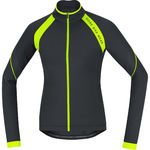 BIKE WEAR Power 2.0 Thermo Fietsshirt Lange Mouwen Zwart/Neon Geel Dam