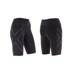 MCS Run Compression Broek Kort Zwart/Zwart Dames