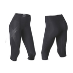 2XU Mid-Rise Compression 3/4 Tight Zwart/Zilver Dames