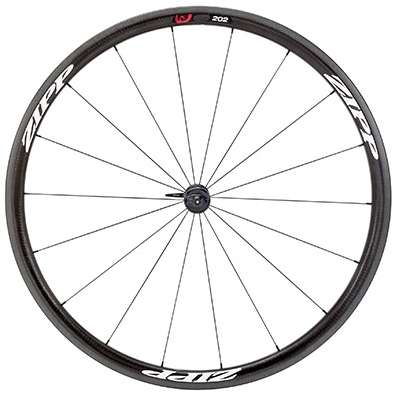 picture 202 Firecrest Carbon Clincher Voorwiel Wit Logo