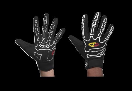 picture Skeleton Fietshandschoenen Zwart/Wit