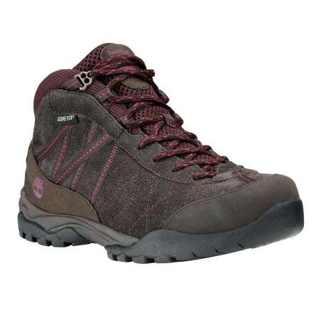 Timberland ek carrigan notch leather mid gtx wandelschoen bruin/roze dames