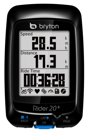 Bryton Rider 20+ T Met Hartslag- en Cadansmeter Zwart