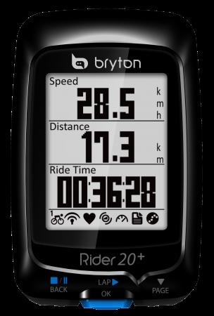 Bryton Rider 20+ E GPS Zwart
