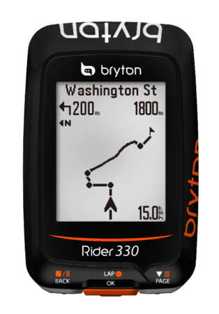 picture Rider 330E GPS Zwart/Oranje