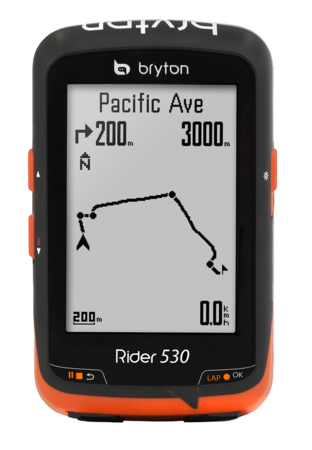 picture Rider 530T GPS Zwart/Oranje