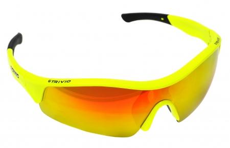picture Sportbril Vento Fluor Yellow Met 2 Extra Lenzen