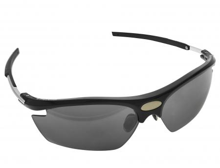 picture Sportbril Visionar Zwart met 2 extra lenzen