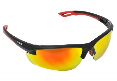 picture Sportbril Verdigo Mat Zwart/Rood met 2 extra lenzen