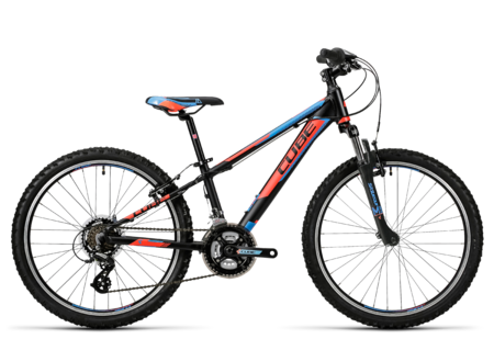 cube kid 240 black n flashred n blue kinder mountainbike. Black Bedroom Furniture Sets. Home Design Ideas