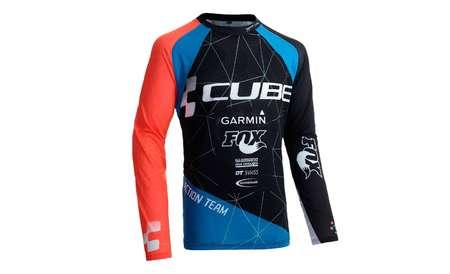 picture Action Team Signature Downhill Fietsshirt Lange Mouw Zwart/Blauw/Rood