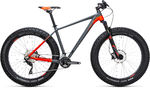 Nutrail Grey`n`Flashred Fatbike Mountainbike 29 inch