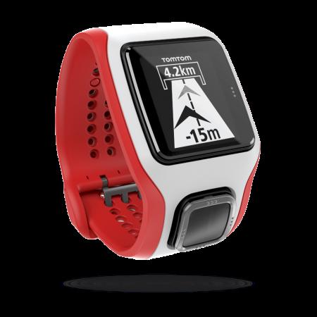 TomTom Multi-Sport Cardio HRM GPS-sporthorloge Wit/Rood