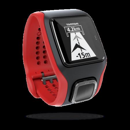 TomTom Multi-Sport Cardio HRM GPS-sporthorloge Zwart/Rood