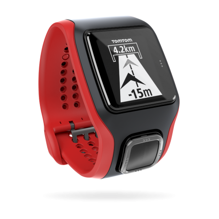 TomTom Multi-Sport Cardio HRM+CCS+AM GPS-sporthorloge Zwart/Rood