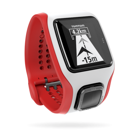 TomTom Runner Cardio GPS-sporthorloge Wit/Rood