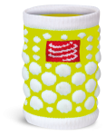 Compressport Zweetband 3D.Dots Fluo Geel