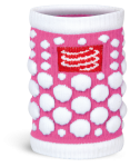 Compressport Zweetband 3D.Dots Fluo Roze