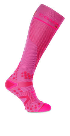 Compressport Full Socks v2.1 Compressiesokken Roze