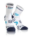 Pro Racing v2.1 Run Hi Compressiesokken Wit/Blauw