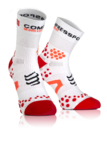 Pro Racing v2.1 Run Hi Compressiesokken Wit/Rood