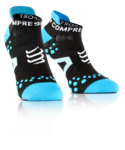 Compressport Pro Racing v2.1 Run Lo Compressiesokken Zwart/Blauw