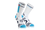 Compressport Pro Racing v2.1 Bike Hi Compressiesokken Wit/Blauw