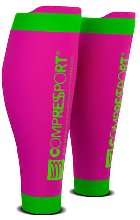 Compressport R2 v2 Compressiekousen Fluo Roze