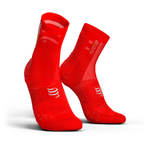 Compressport ProRacing V3.0 Ultralight Bike Compressiesokken Rood
